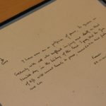 Pope's message in guest book