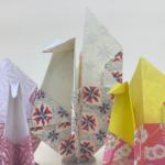 Let's make a crane shaped mini envelope!