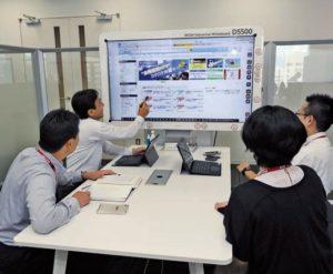 電子黒板の使用で出力環境の最適化